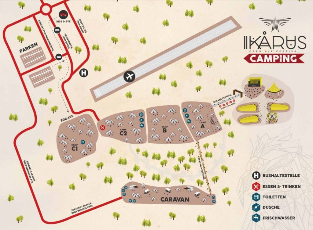 Ikarus Festival Camping Map
